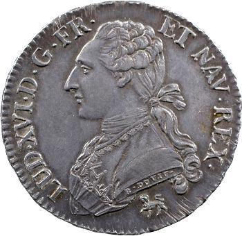 Louis XVI, demi-écu aux rameaux d'olivier, 1792 Paris