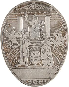 IIIe République, cachet uniface d'Union civile, s.d