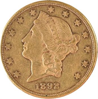 États-Unis, 20 dollars Liberté, 1892 Carson City