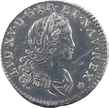 Louis XV, pièce de X sols de Navarre, 1719 Caen
