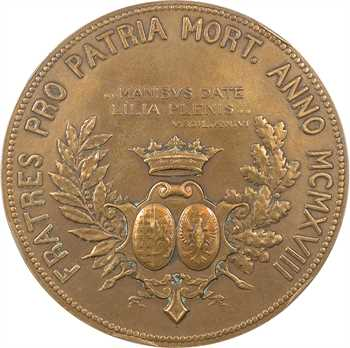 IIIe République, hommage aux frères Jeanbernat Barthélemy de Ferrari Doria, par G. Martin, 1918 Paris