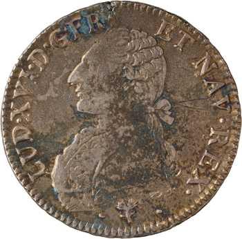 Louis XVI, écu aux branches d'olivier, 1785 Bayonne