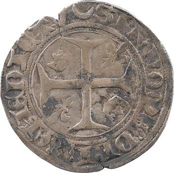 Charles VII, blanc aux lis accotés, Châlons-en-Champagne