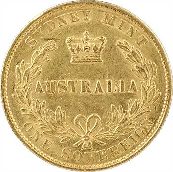 Australie, Victoria, souverain, 1863 Sydney