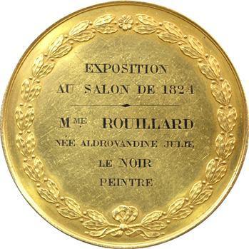 Charles X, médaille or, prix de peinture, 1824 Paris