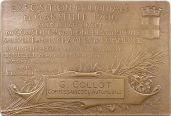 Exposition coloniale de Marseille, plaque de Patriarche, 1906