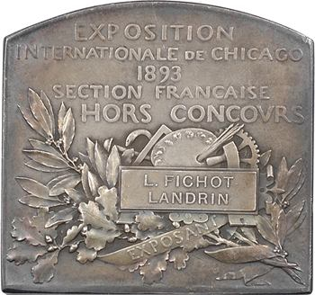 Roty (L.-O.) : Exposition internationale de Chicago (exposant), 1893 Paris