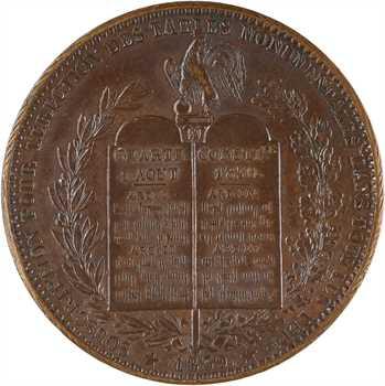 Louis-Philippe Ier, module du décime, érection des tables monumentales, 1839 flan mince