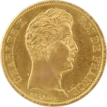 Charles X, 40 francs 2e type, 1828 Paris