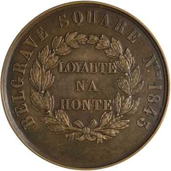 Henri V, manifestation de ses partisans à Belgrave Square, 1843-1844 Londres ?
