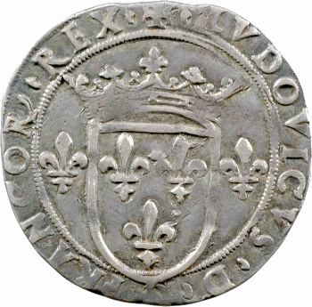 Louis XII, gros royal d'argent de six sous ou demi-teston, Milan