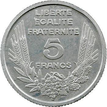 IIIe République, essai de 5 francs Bazor en étain, 1933 Paris