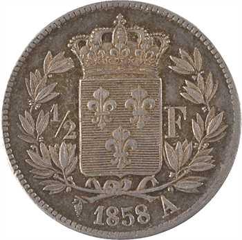 Henri V, 1/2 franc, 1858 Bruxelles (Würden)