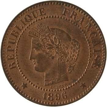 IIIe République, 2 centimes Cérès, 1896 Paris