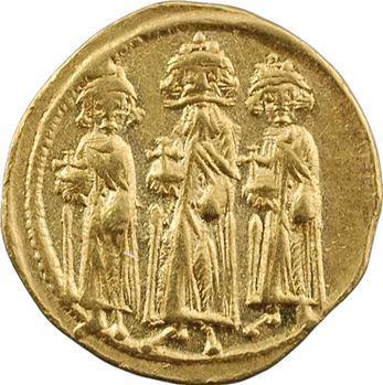 Héraclius, Héraclius Constantin et Héraclonas, solidus, Constantinople, 10e officine, 638-641