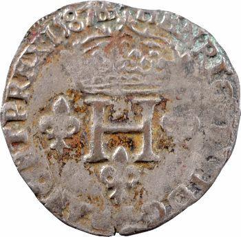 Henri III, Double sol parisis, 1587 Aix-en-Provence