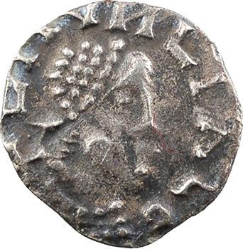 Neustrie, Paris, sous Ebroïn, trémissis en or pâle, imitation d'Éloi, s.d. (c.650-670) Moussy (Munciaco)