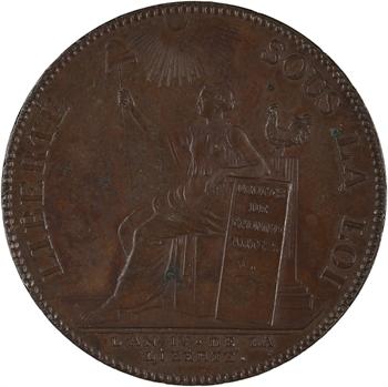 Convention, deux sols de Monneron à la Liberté assise, 1792 An IV Birmingham