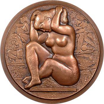 Gibert (L.) : autoportrait ou automédaille, épreuve d'éditeur EE/100, Club français de la Médaille, 1970-1972 Paris