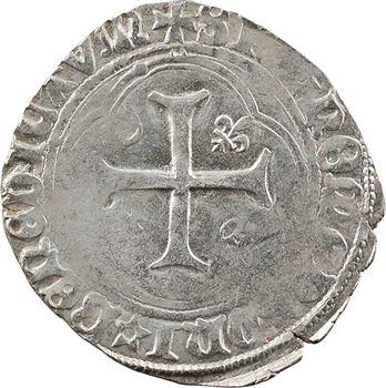 Charles VIII, blanc à la couronne (molettes/molettes), Châlons-en-Champagne