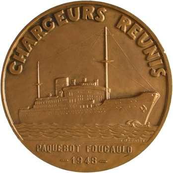 Compagnie Maritime des Chargeurs Réunis, le paquebot Foucauld, par Fraisse, 1948 Paris