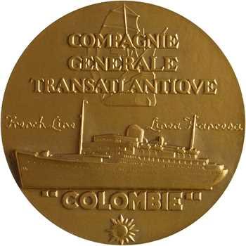 Compagnie Générale Transatlantique, le paquebot Colombie, par Renard, dans sa boîte, s.d (1931) Paris
