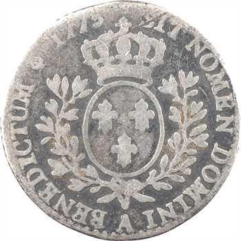 Louis XVI, dixième d'écu aux branches d'olivier, 1775 Paris