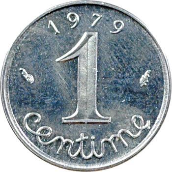 Ve République, 1 centime épi avec rebord, 1979 Pessac