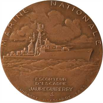 Marine, lancement du Jauréguiberry, par Guiraud, s.d. (1955) Paris