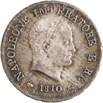 Italie, Napoléon Ier, 10 soldi tranche en creux, 1810 Milan