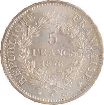 IIIe République, 5 francs Hercule, 1876 Paris