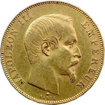 Second Empire, 50 francs tête nue, 1859 Strasbourg