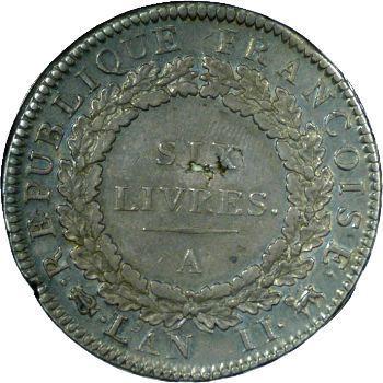 Convention, Ecu de six livres, 1793 Paris