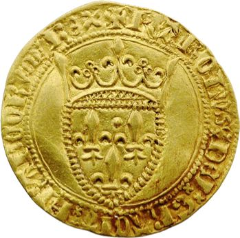 Charles VI, écu d'or à la couronne, 1re émission