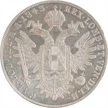 Autriche, Ferdinand Ier, thaler, 1843 Vienne