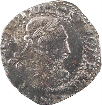 Henri III, demi-franc au col plat, faux d'époque, s.d (c.1590)