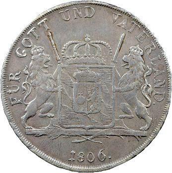 Allemagne, Bavière (royaume de), Maximilien Ier Joseph, Thaler, 1806 Munich
