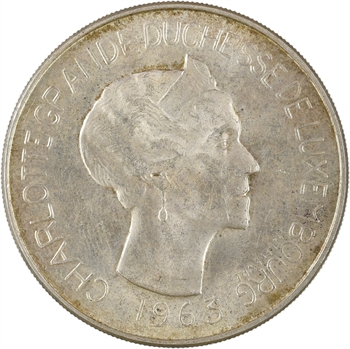 Luxembourg, Charlotte, 100 francs, 1963