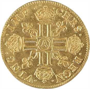Louis XIII, louis d'or à la mèche courte, 1640 Paris