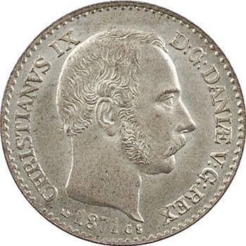 Danemark, Christian IX, 4 skilling, 1871 Copenhague