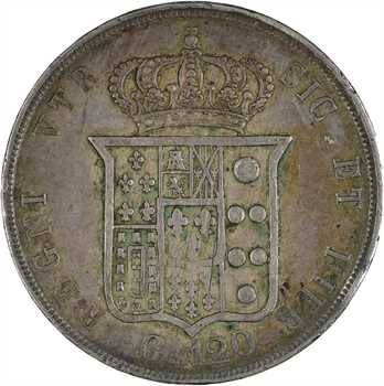 Italie, Deux-Siciles (royaume des), Ferdinand II, 120 grana, 1848 Naples