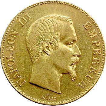 Second Empire, 100 francs tête nue, 1858 Paris