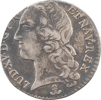 Louis XV, dixième d'écu au bandeau, 1741 Dijon