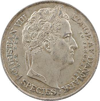Danemark, Frédéric VII, speciestaler pour l'accession au trône, 1848 Copenhague