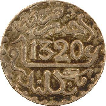 Maroc, Abdül Aziz I, 1/2 dirham, AH 1320 (1902) Paris