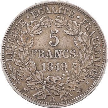 IIe République, 5 francs Cérès, 1849 Paris main/main