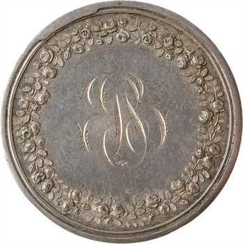 Louis XVIII, la Paix de Lunéville, réemployée en médaille de mariage, 1801-1818 Paris
