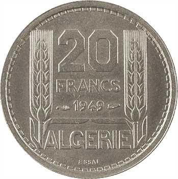 Algérie, essai de 20 francs, 1949 Paris