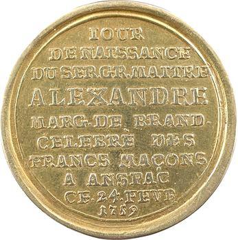 Allemagne, Ansbach, Aimer et se taire, médaille en or, 1759