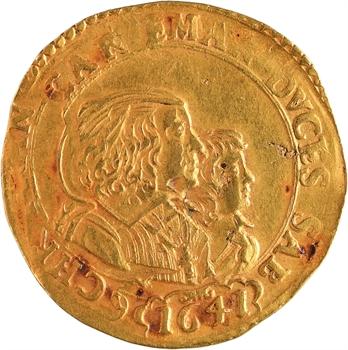 Italie, Savoie (duché de), Charles-Emmanuel II, régence de sa mère, 4 scudi en or, 1641 Turin ou Chambéry